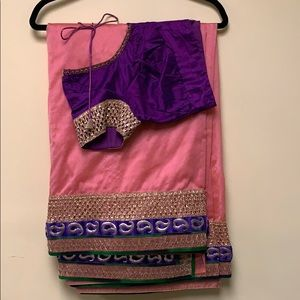 Shimmer Saree with stitched blouse